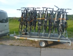 Taxi Piran - Trailers and bicycle holder - trailer for 20 bicycles, a carrier for 4 bikes